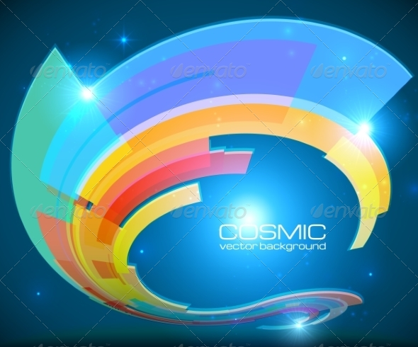 GraphicRiver Abstract Cosmic Shining Colorful Circle Frame 7192207