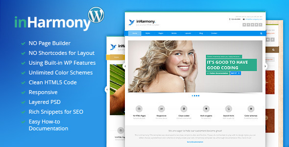 ThemeForest inHarmony Clean Responsive WP Theme 7063129