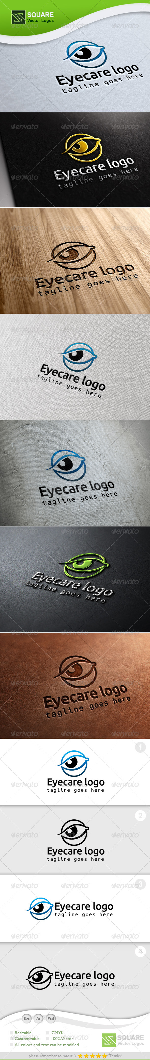 Eye Care Vector Logo Template - Symbols Logo Templates