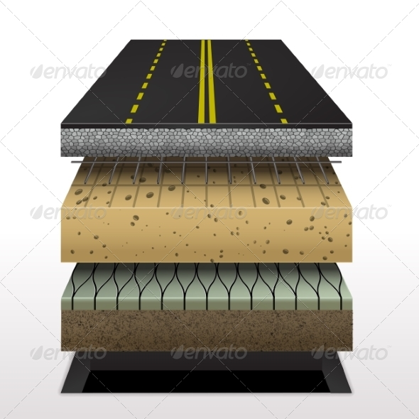 GraphicRiver Section of Asphalt Road 7192501
