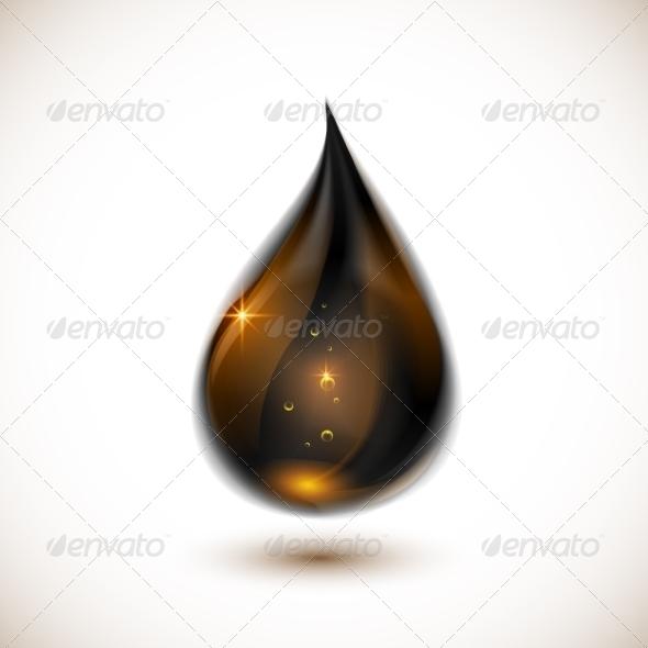 GraphicRiver Black Oil Drop 7192631