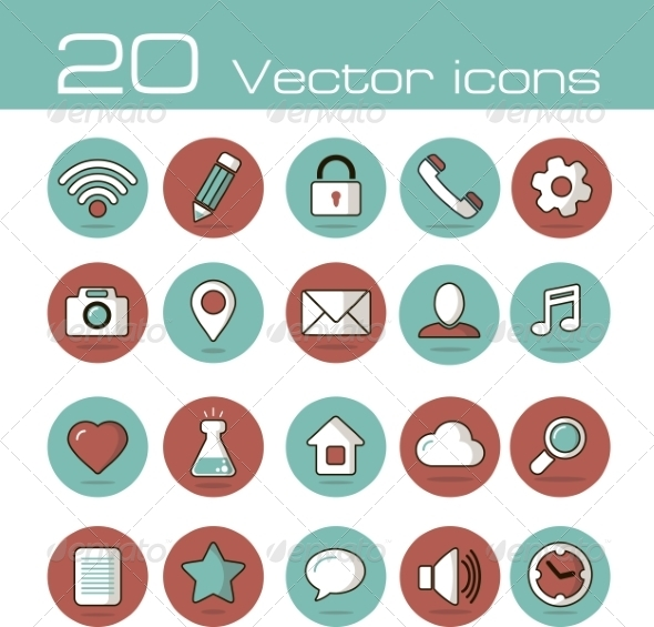 GraphicRiver Vector Icons Set 7192859