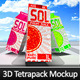 Large Juice Carton Tetra Pack Mockup - GraphicRiver Item for Sale