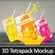 Mini Juice Carton Tetra Pack Mockup - GraphicRiver Item for Sale