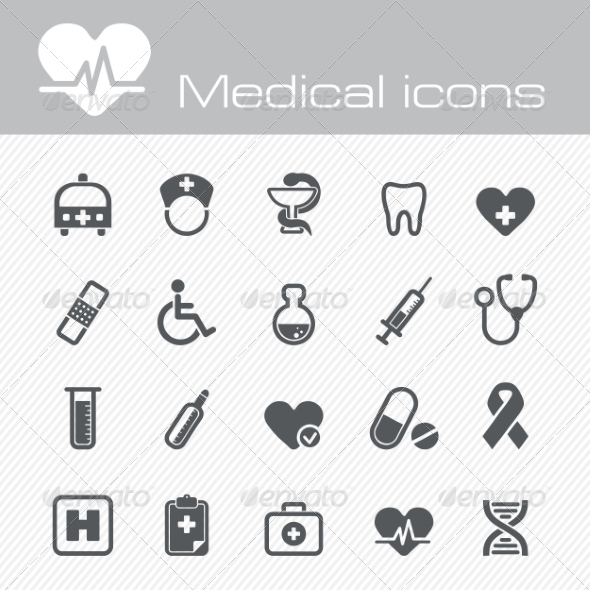 GraphicRiver Medical Icons Set 7192904