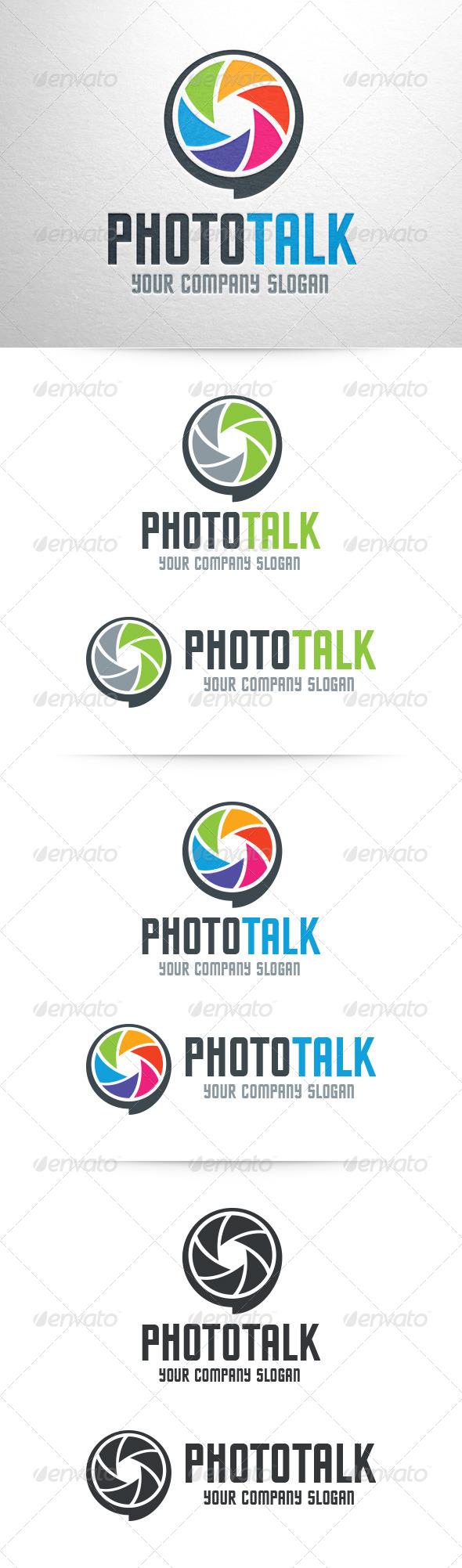 GraphicRiver Photo Talk Logo Template 7192905