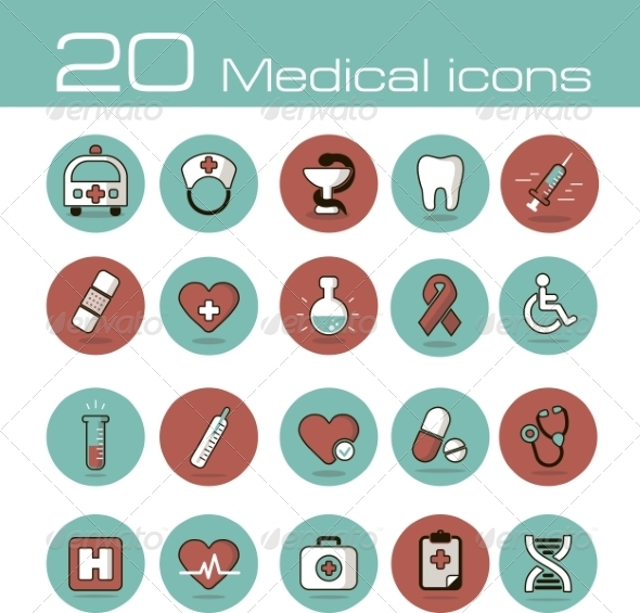 GraphicRiver Medical Icons Set 7192906