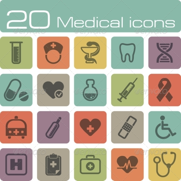 GraphicRiver Medical Icons Set 7192907