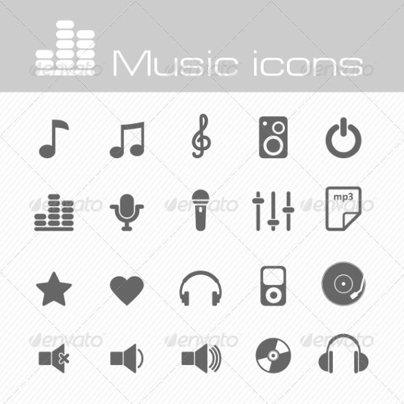 GraphicRiver Music Icons Set 7192929