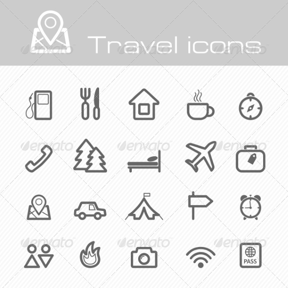 GraphicRiver Travel Icons Set 7192967