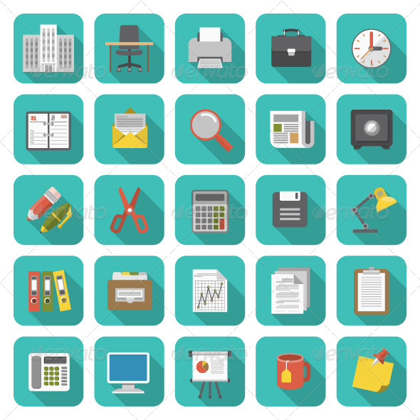 GraphicRiver Office Icons 7192968