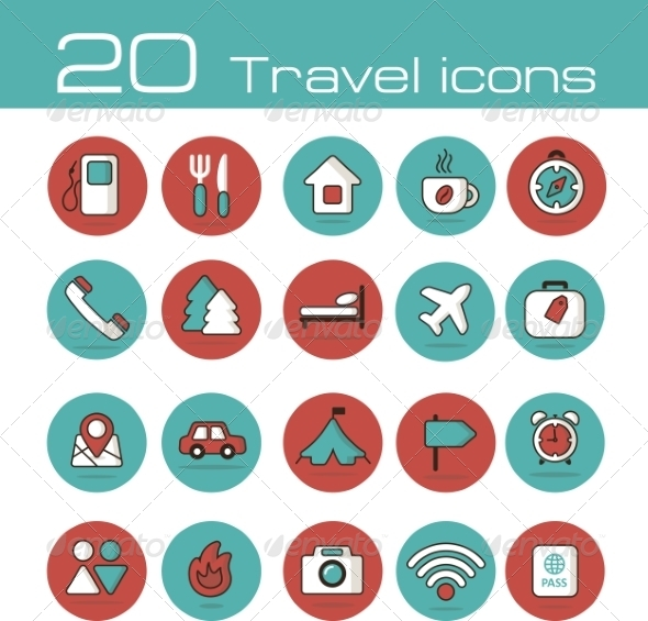 GraphicRiver Travel Icons Set 7192977