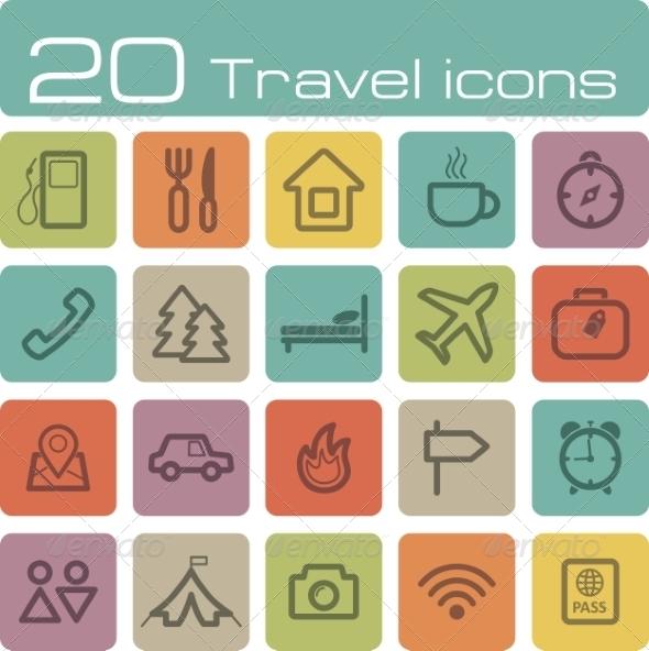 GraphicRiver Travel Icons Set 7192980