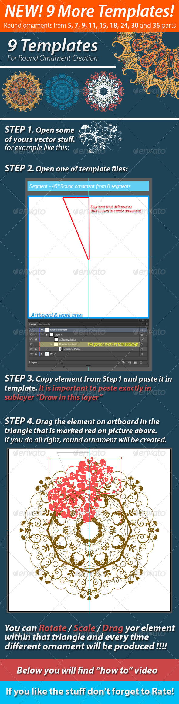 GraphicRiver 9 Templates For Round Ornament Creation 7193368