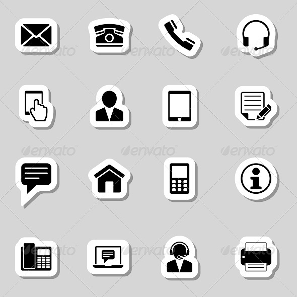 GraphicRiver Contact Icons Set as Labels 7193556