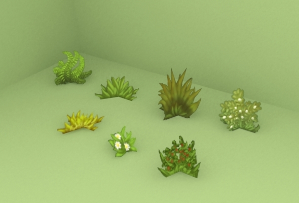 Grass pack low poly  - 3DOcean Item for Sale