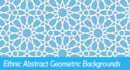 Ethnic Abstract Geometric Backgrounds