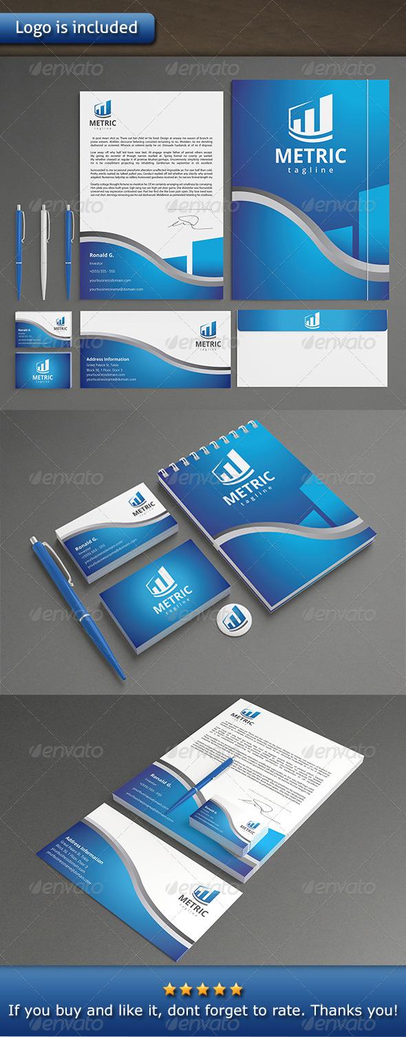 GraphicRiver Metrics Logo Identity 7193787