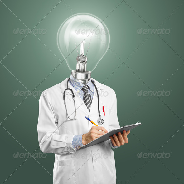 Lapm Head Doctor - Stock Photo - Images