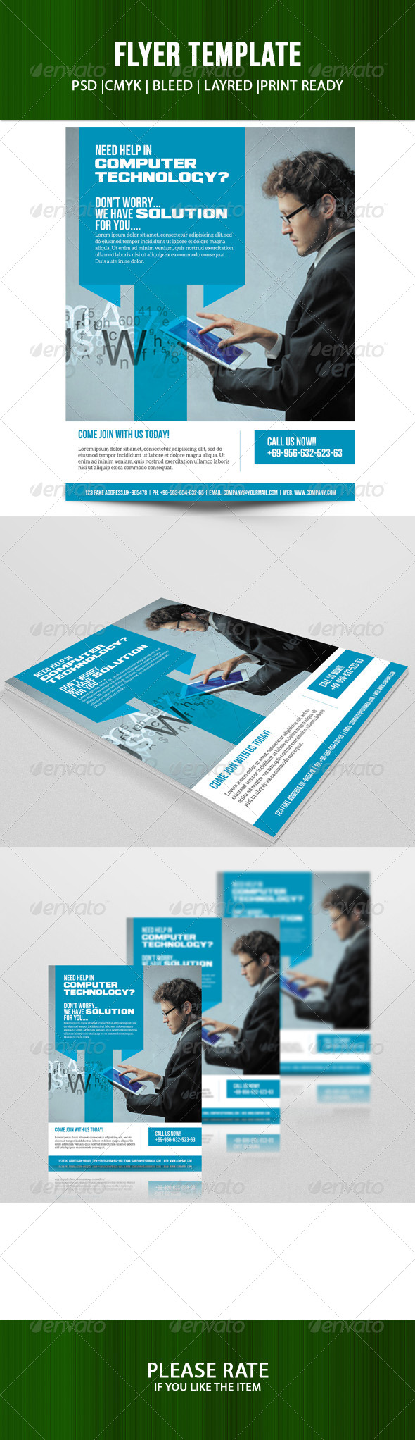 GraphicRiver Business Flyer Template 7194001