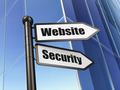Web development concept: Website Security on Building background
