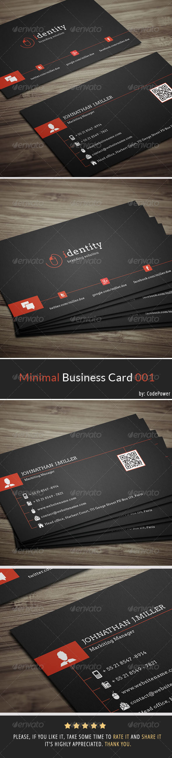 GraphicRiver Minimal Business Card 001 7194217