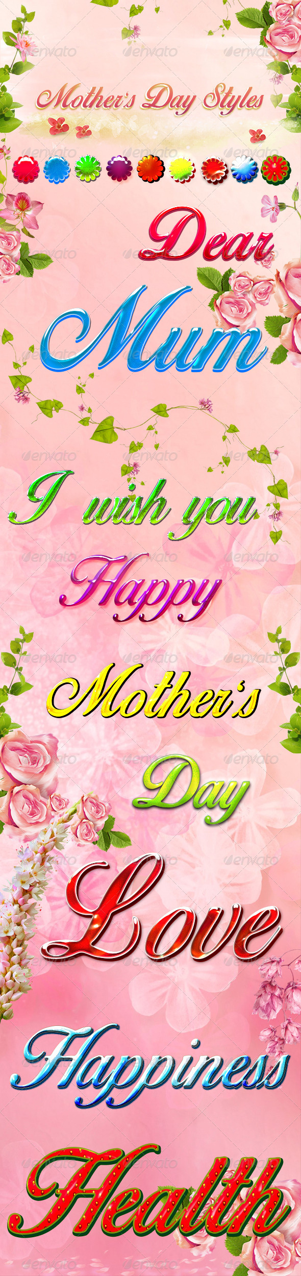 GraphicRiver Mother s Day Styles 7194326