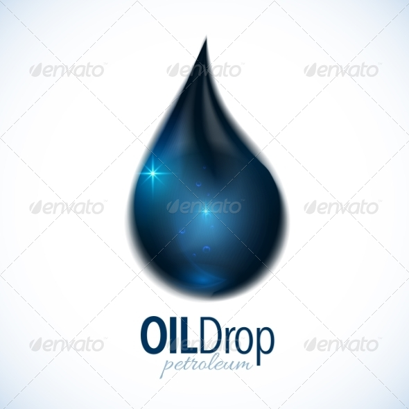 GraphicRiver Oil Drop with Text Design 7194428