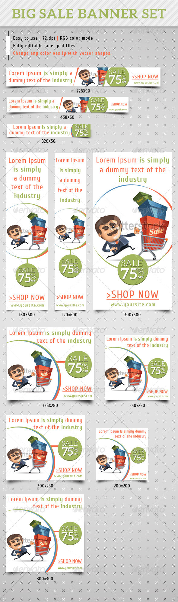 GraphicRiver Big Sales & Special Offer Services Banner Ads 7194520