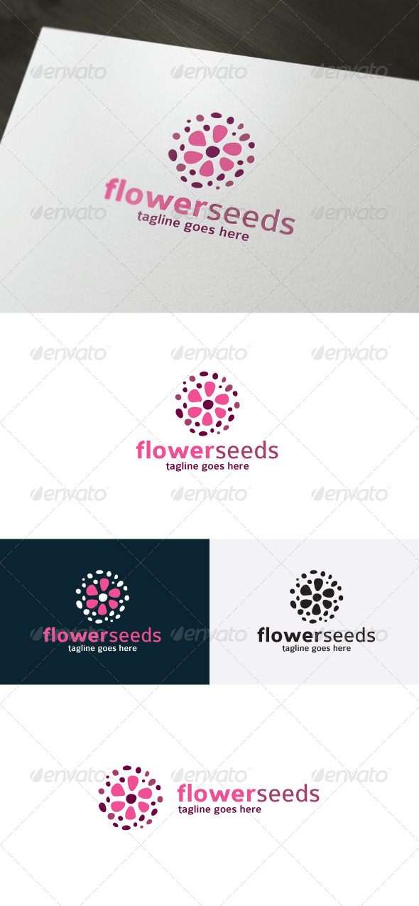 GraphicRiver Flower Seeds Logo 7194638