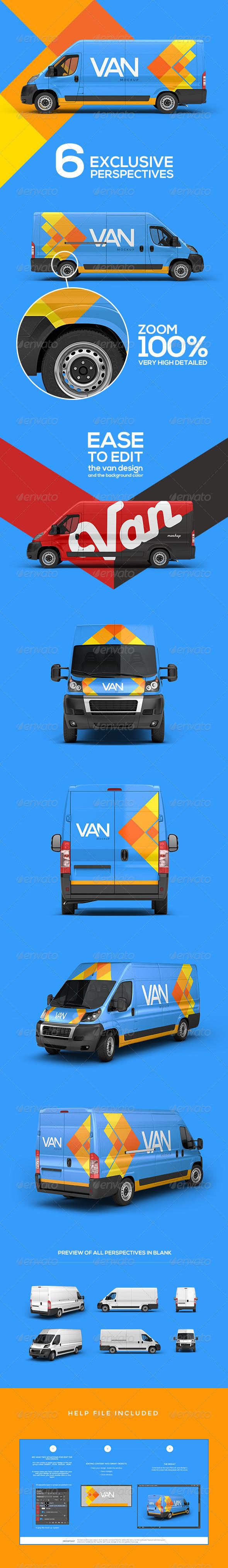 GraphicRiver Van Mockup 6992810