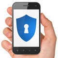 Security concept: Shield With Keyhole on smartphone - PhotoDune Item for Sale