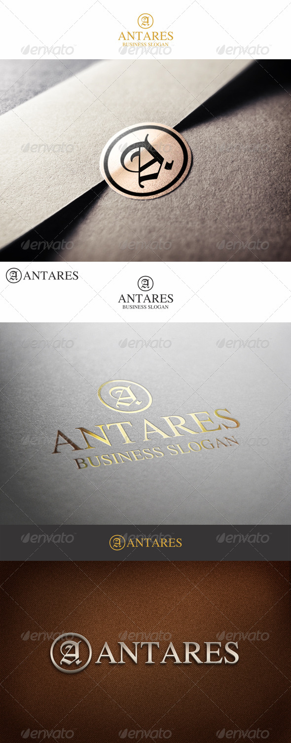 GraphicRiver Fashion Monogram Letter A Antares 7195282