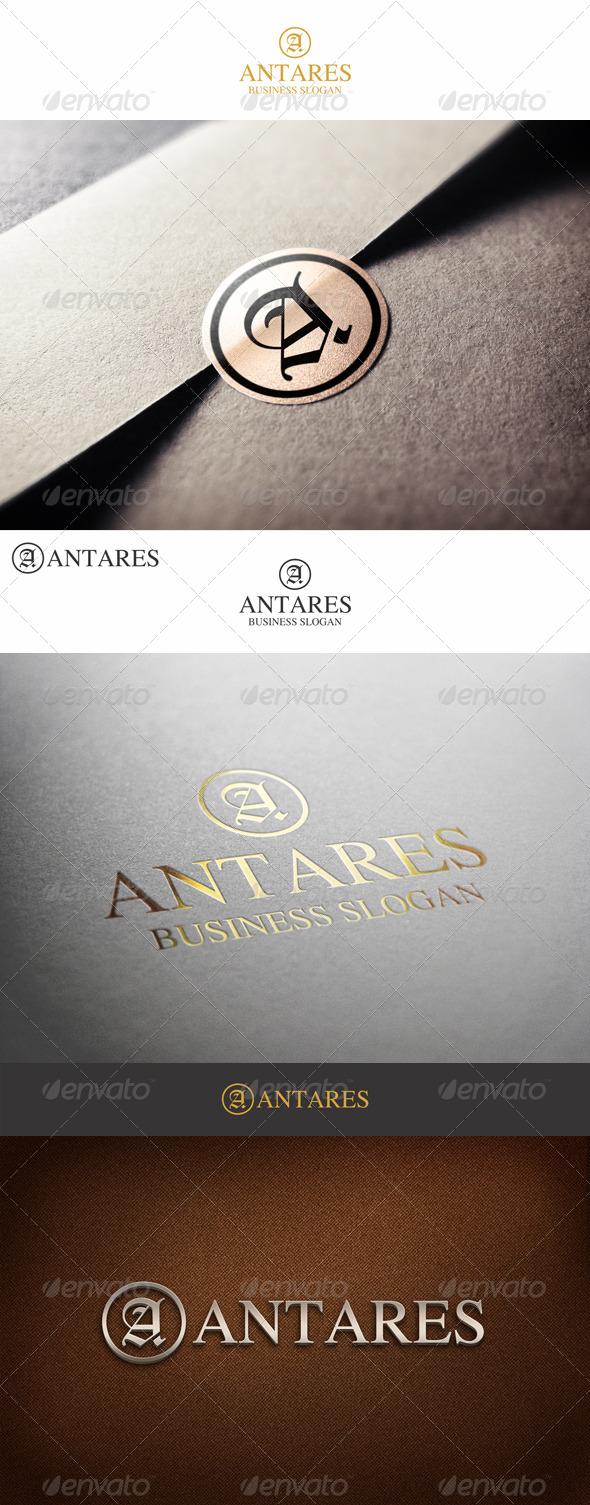 Fashion Monogram Letter A - Antares - Letters Logo Templates