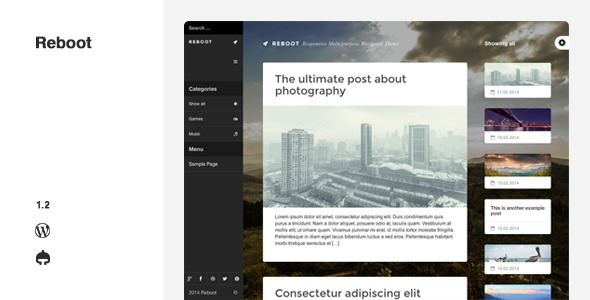 Reboot - Responsive Multi-purpose Wordpress Theme - Portfolio Creative