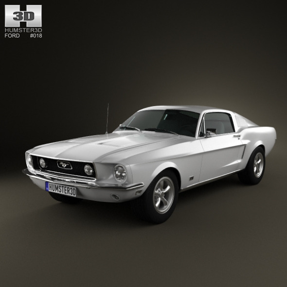 3DOcean Ford Mustang GT 1967 754344