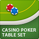 Casino Poker Table Set (4 styles) - GraphicRiver Item for Sale