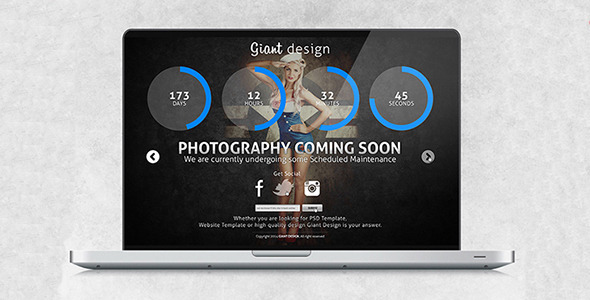 ThemeForest Photography Coming Soon Site Template 7121645