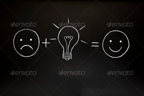 Creativity Concept on Chalkboard - Stock Photo - Images