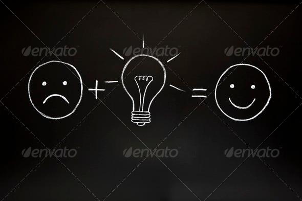 PhotoDune Creativity Concept on Chalkboard 754397