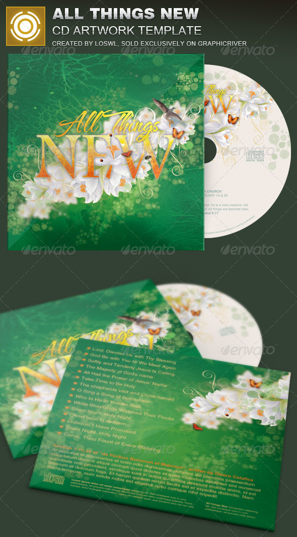 GraphicRiver All Things New CD Artwork Template 7195997