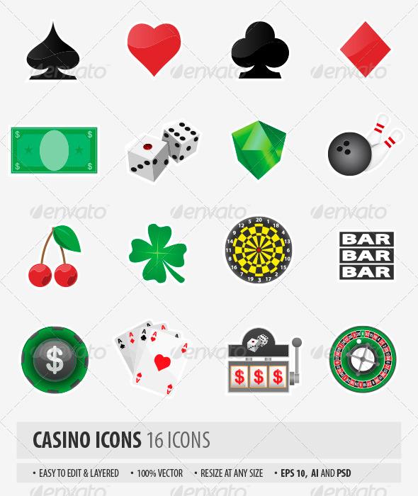 GraphicRiver Casino Icons 7158463