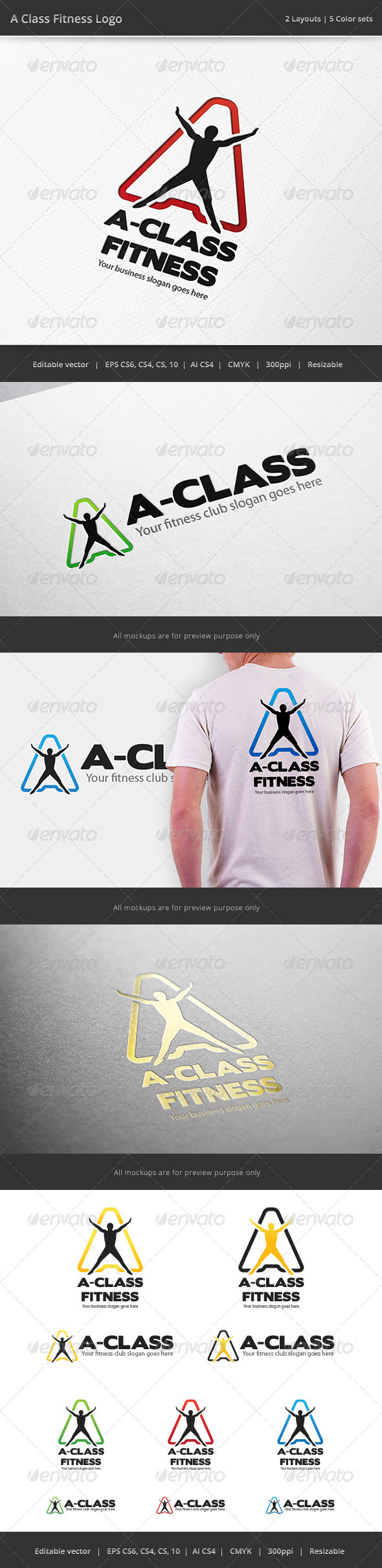 GraphicRiver A Class Fitness Letter Logo 7196495