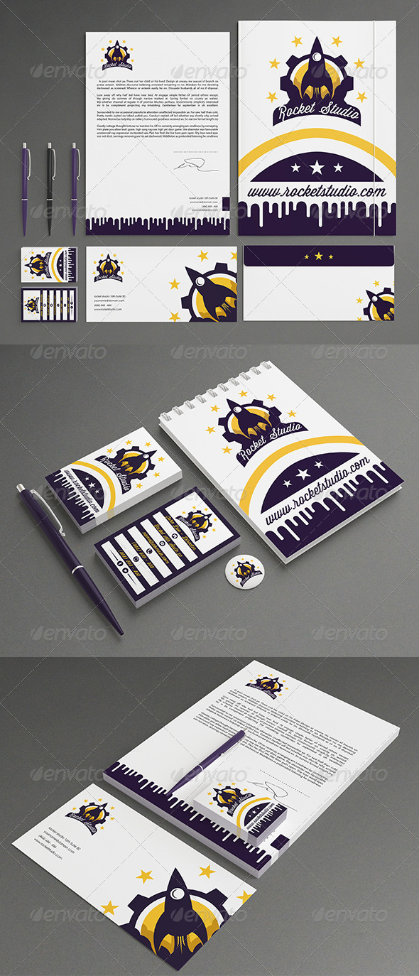 GraphicRiver Rocket Stationery 7196541