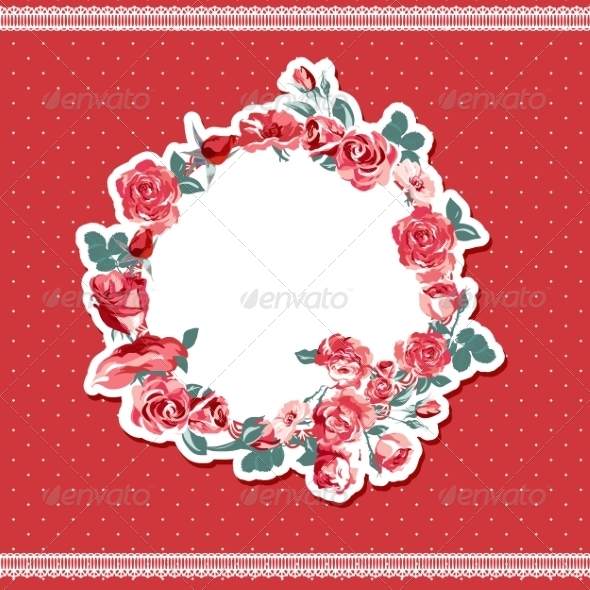 GraphicRiver Roses Background 7196557