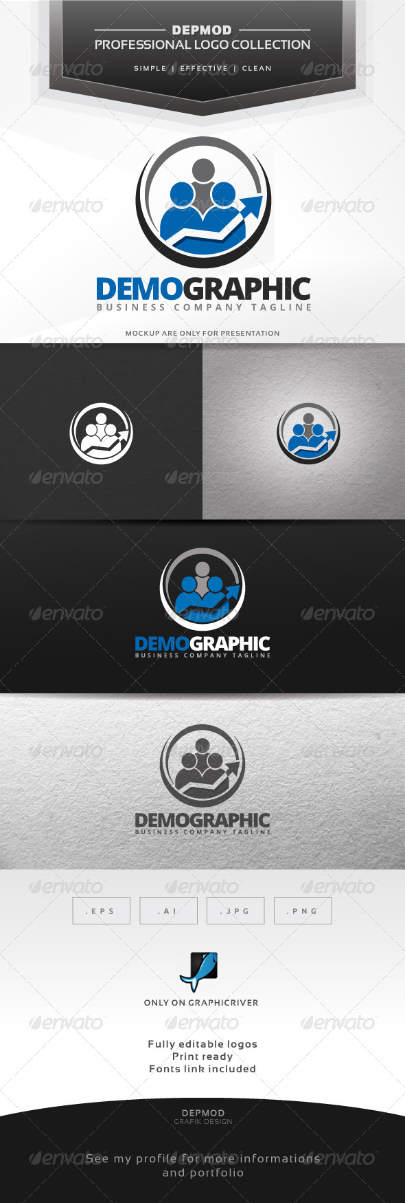 GraphicRiver Demographic Logo 7196720