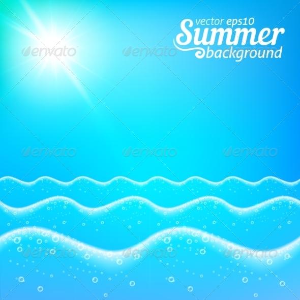 GraphicRiver Seascape Background 7197063