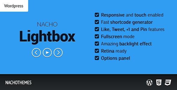 NACHO Lightbox is an awesome Wordpress plugin which helps you showcase images, videos and galleries. It is directly integrated into the Wordpress editor, and i
