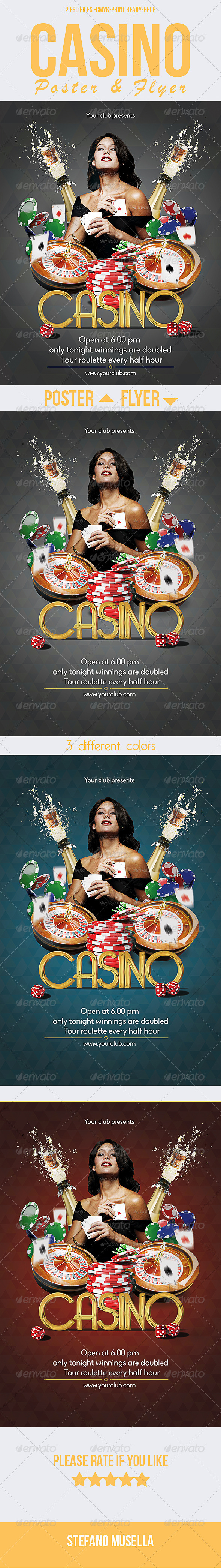 GraphicRiver Casino Poster and Flyer 7160279