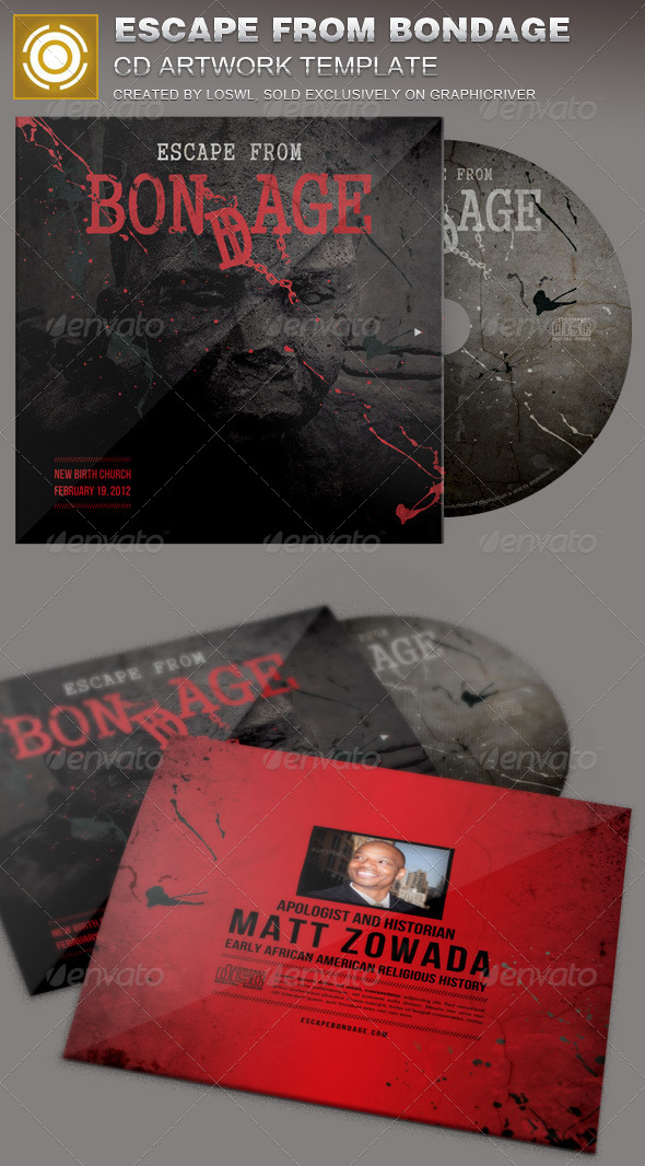Escape from Bondage CD Artwork Template